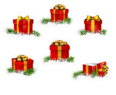 Set of realistic gift boxes. — Stock Vector