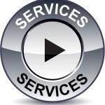 Services round button. — Stock Vector #5306554