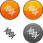 DNA button. — Stock Vector #5413513