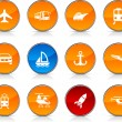 Transport icons. — Stock Vector #6125075