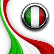 Italian flag. — Stock Vector #6941451