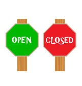 Open and closed sign — Stock Vector