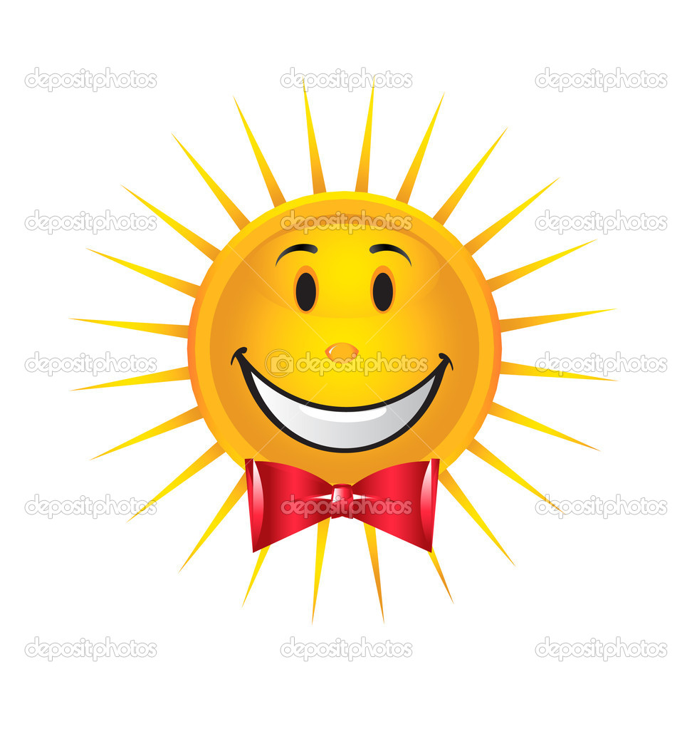 Shinny happy sun with tie — Stock Vector #17418443