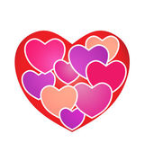 Hearts on Heart — Stock Vector
