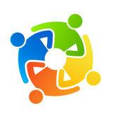 Teamwork together 4 — Stock Vector