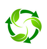 Green Recycle — Stock Vector