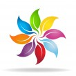 Color leaves wheel — Stock Vector