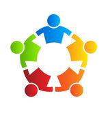 Fuerte cinco logo elemento de diseño — Vector de stock