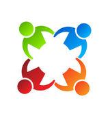 Team Hold 4 Logo Design element — Stock Vector