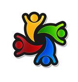 Teamwork Party 4 Logo design element — Stock Vector