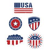 USA star flag design elements vector — Stock Vector