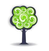 Season tree logo design element — Stock Vector