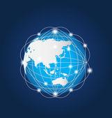 Global Network Asia — Stock Vector