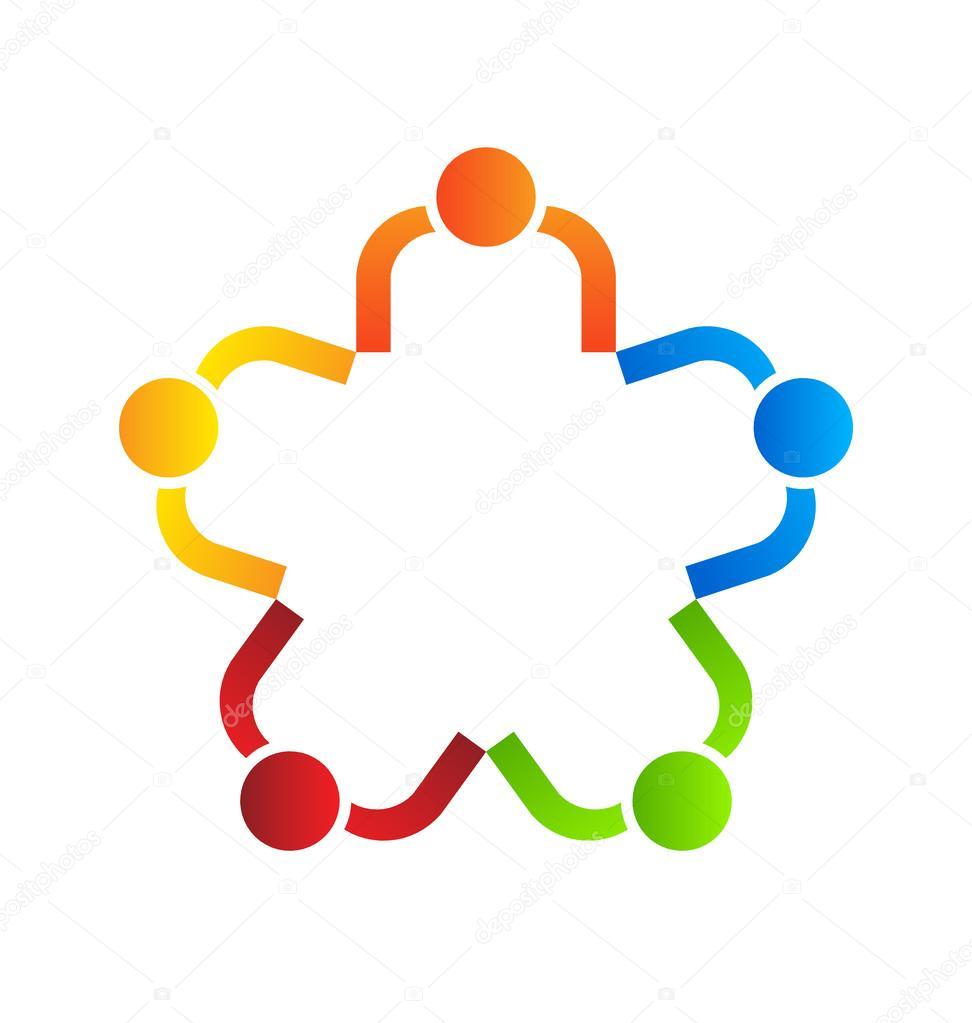 企业徽标设计,团队明星 5 — 矢量图片作者 deskcube