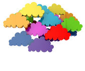 Colorful group of clouds — Stock Photo