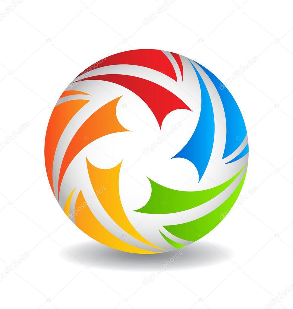 Play Ball Logo Design Stock Vector Deskcube 27561165