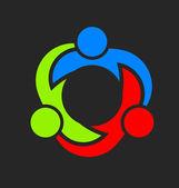 Team Union Three Logo — Stock Vector