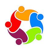 Social community 5 Logo — Stock Vector