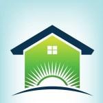 Solar House Logo — Stock Vector #30463133