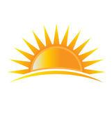 Logotipo de energía sol — Vector de stock