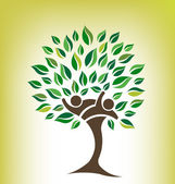 Friends Tree Logo — Stock Vector