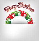 Tarjeta familiar de feliz navidad — Vector de stock
