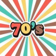 Stockvektor : 70s Vintage Art Background