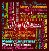Merry Christmas Vector Lettering — Stock Vector