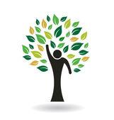 Hi 5 People Tree — Stock Vector
