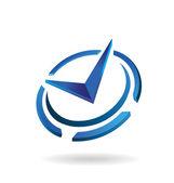 Vector Logo Clock Time Icon — Stok Vektör