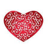 Logo Vintage Heart design element — Stock Vector