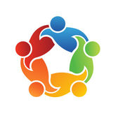 Vector Logo Teamwork Support 5 — Stock Vector