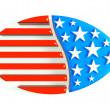 3D football USA Logo — Stock Photo