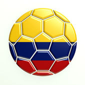 Colombia Soccer Ball — Stock Photo