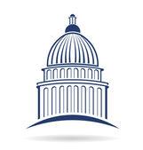 Capitol cupula Logo — Stock Vector