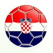 Croatia Soccer Ball Icon — Stock Photo