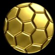 Stock Video: Golden soccer ball with alphclip to make any background