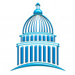 Stock Photo: Capitol building blue