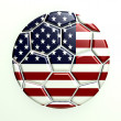 United States Soccer Ball — Stock Photo