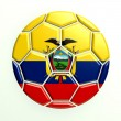 Ecuador soccer ball — Stockfoto #40989379