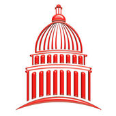 Capitol building red — Stock Photo