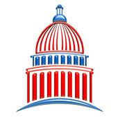 国会大厦的蓝色和红色 — 图库照片