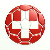 Switzerland soccer ball — Stock Photo