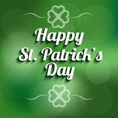 St Patrick day background sign — Stock Vector