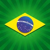 Brazil stardust flag — Stock Vector