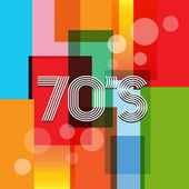 70s Vector Retro Art Background — Stock Vector