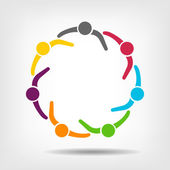 Team Meeting 7 Design Icon Vector  Group of People — Vector de stock