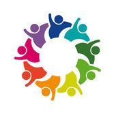 Teamwork Hi 5 - Logo image — Stock Vector
