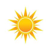значок логотипа изображение солнца хоккея — Cтоковый вектор