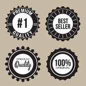 Collectie van premiumkwaliteit, beste verkoper uniek zegel etiketten met retro vintage stijl ontwerp — Stockvector